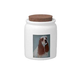 Tarro del caramelo de la invitación del perro de P Jarras Para Caramelos