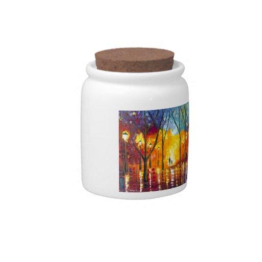 Tarro del caramelo de la luz de guía tarro de cerámica para dulces