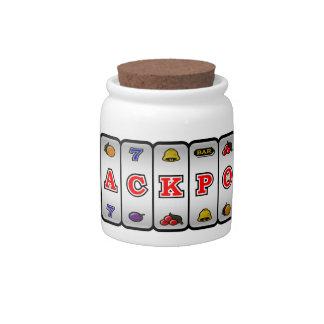 Tarro del caramelo de la máquina tragaperras del b jarra para caramelo