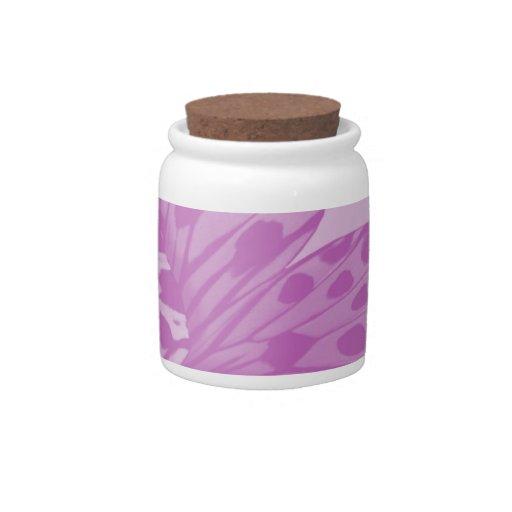 Tarro del caramelo de la mariposa de monarca de la jarra para caramelo