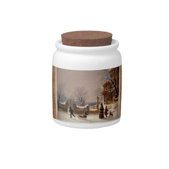 Tarro del caramelo de la Nochebuena del Victorian  Jarra Para Caramelo