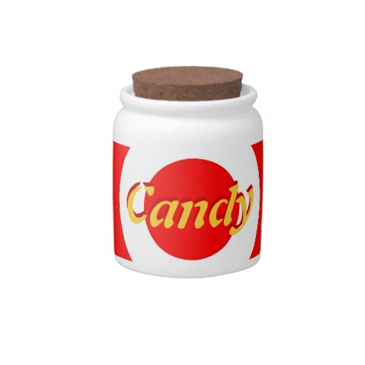 Tarro del caramelo de la porcelana jarras para caramelos