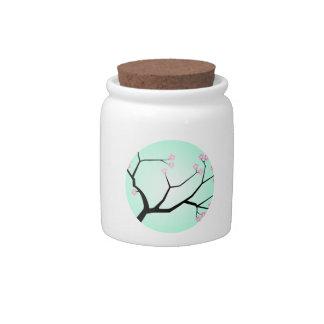 Tarro del caramelo de las flores de cerezo jarras para caramelos
