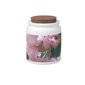 Tarro del caramelo de las flores de cerezo jarra para caramelo