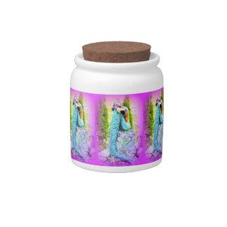 tarro del caramelo de las sirenas que soña tarro de cerámica para dulces