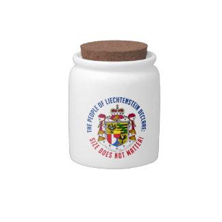 Tarro del caramelo de Liechtenstein Plato Para Caramelo