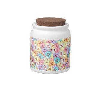Tarro del caramelo de los amores jarras para caramelos