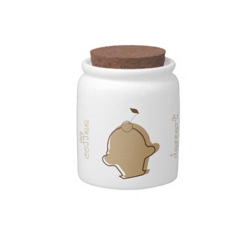 Tarro del caramelo del café y de chocolate tarro de cerámica para dulces