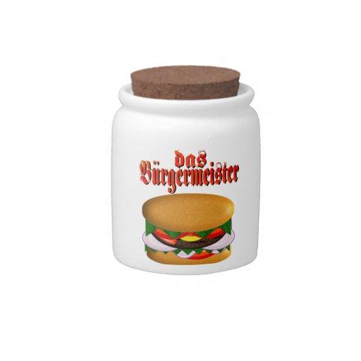 tarro del caramelo del das Burgermeister Platos Para Caramelos