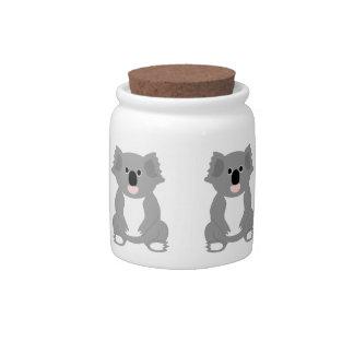 Tarro del caramelo del oso de koala platos para caramelos