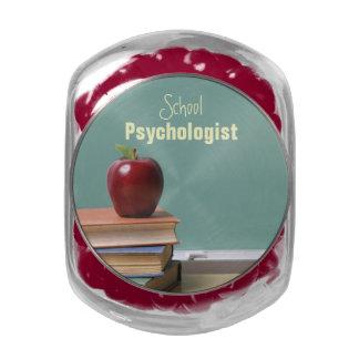 Tarro del caramelo del psicólogo de la escuela jarrones de cristal
