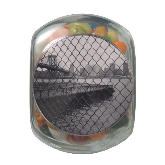 Tarro del caramelo del puente de Brooklyn Frascos De Cristal