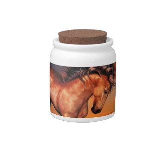Tarro del caramelo del unicornio de la castaña platos para caramelos