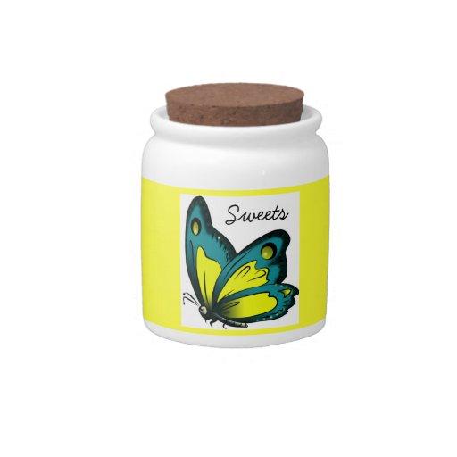 tarro del caramelo (mariposa) plato para caramelo