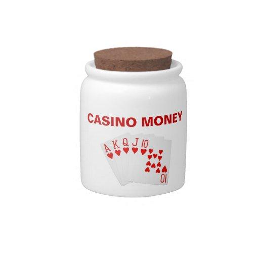 Tarro del dinero del casino tarro de cerámica para dulces