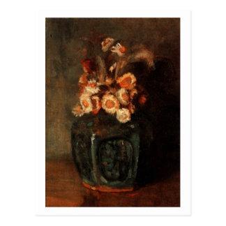 Tarro del jengibre con los crisantemos, Vincent va Tarjeta Postal