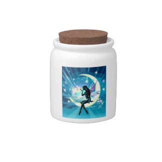 Tarro del polvo del duendecillo tarro de cerámica para dulces