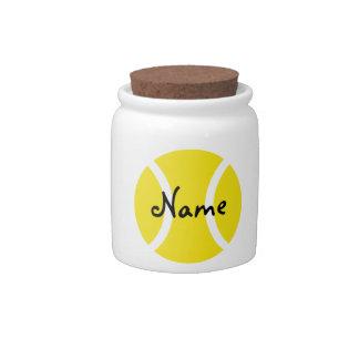 Tarro del regalo con el diseño amarillo de la pelo jarras para caramelos