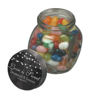 Tarro del vidrio de las luces de hadas y de la frascos de cristal jelly belly