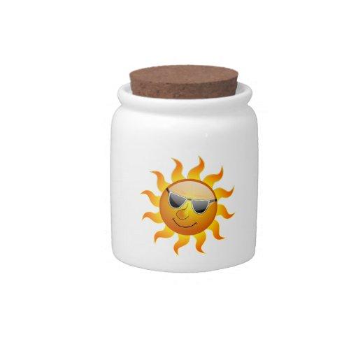 Tarro divertido del caramelo de Sun del verano Jarra Para Caramelo