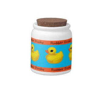 Tarro Ducky de goma del caramelo/de la invitación Jarras Para Caramelos