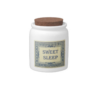 Tarro dulce del sueño plato para caramelo