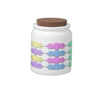 Tarro en colores pastel del caramelo del modelo de jarras para caramelos