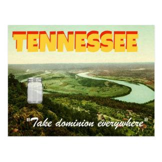 """Tarro en postal Stevens-temática de Tennessee"""