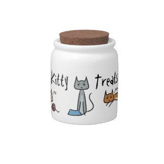 Tarro enojado de la invitación de los gatos jarra para caramelo
