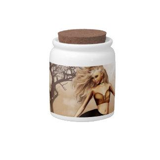 Tarro femenino del caramelo del Centaur Jarras Para Caramelos