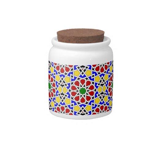 Tarro geométrico islámico del caramelo del modelo jarras para caramelos