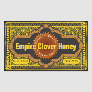Tarro grande de la miel del trébol del imperio rectangular altavoz