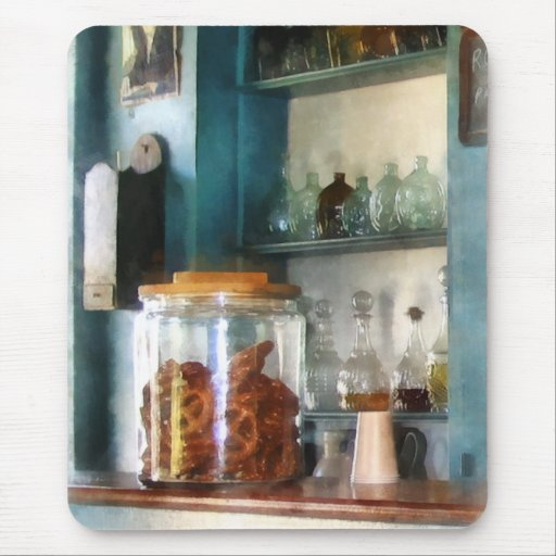 Tarro grande de pretzeles alfombrilla de ratón