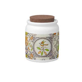 Tarro holandés del caramelo de las baldosas cerámi jarras para caramelos