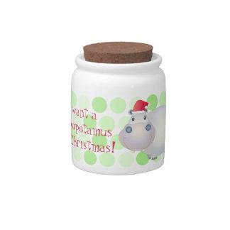 Tarro lindo del caramelo de Navidad del navidad de Jarra Para Caramelo