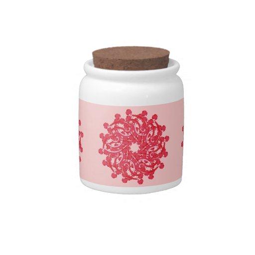 Tarro lindo del caramelo del ornamento floral jarras para caramelos