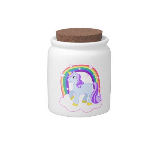 Tarro mágico lindo del unicornio tarro de cerámica para dulces