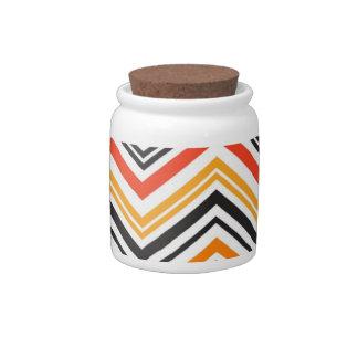 Tarro moderno del caramelo del modelo anaranjado y jarra para caramelo