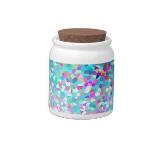 Tarro multicolor azul colorido del caramelo del ar tarro de cerámica para dulces