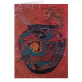 Tarro Notecard del alma de Zuni Tarjeta Pequeña