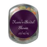 Tarro nupcial púrpura del caramelo de la ducha jarras de cristal jelly bely
