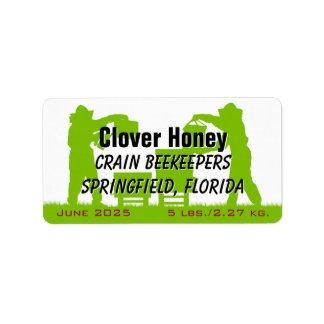 Tarro personalizado apicultor de la miel etiquetas de dirección