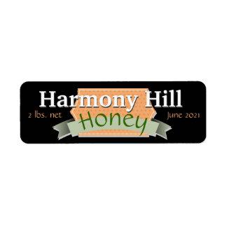 Tarro personalizado de la miel de la marca etiqueta de remite