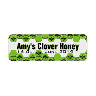 Tarro personalizado de la miel etiquetas de remite