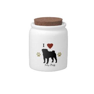 Tarro personalizado del caramelo de la invitación jarras para caramelos