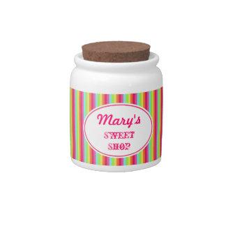 Tarro personalizado del caramelo del arco iris jarras para caramelos