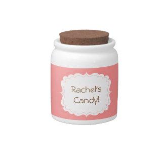 Tarro personalizado del caramelo platos para caramelos