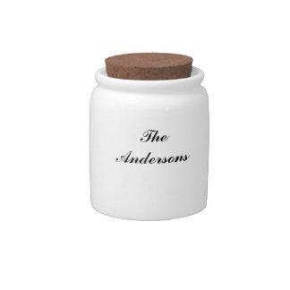 Tarro personalizado del caramelo jarras para caramelos
