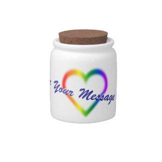 Tarro personalizado tarro del caramelo del orgullo jarras para caramelos
