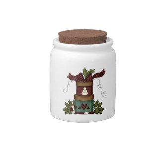 Tarro precioso del caramelo de los regalos del nav tarro de cerámica para dulces